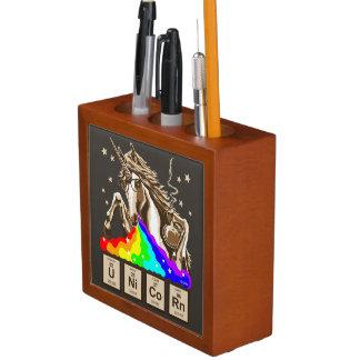 Chemistry unicorn pukes rainbow desk organiser