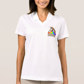 Chemistry unicorn pukes rainbow polo shirt