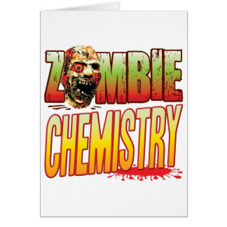 Chemistry Zombie Head Greeting Cards