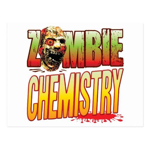 Chemistry Zombie Head Postcard
