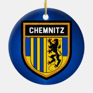 Chemnitz Flag Ceramic Ornament