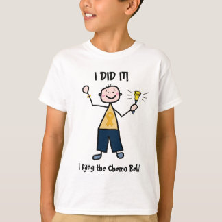 Chemo Bell - Childhood Cancer Gold Ribbon T-Shirt