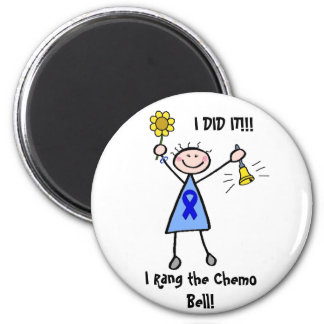 Chemo Bell - Colon Cancer Woman 6 Cm Round Magnet