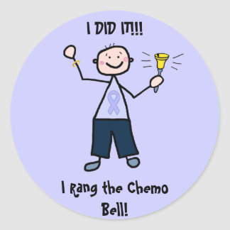Chemo Bell - General Cancer Male Round Sticker