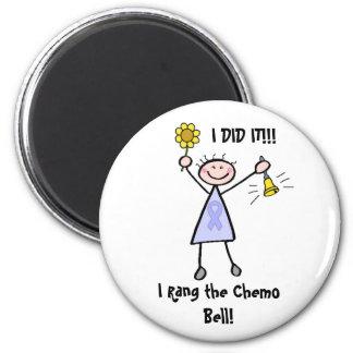 Chemo Bell - Lavender Ribbon Female Refrigerator Magnet