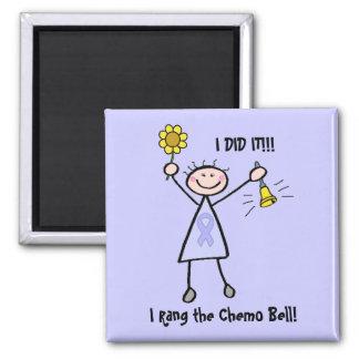 Chemo Bell - Lavender Ribbon Female Square Magnet