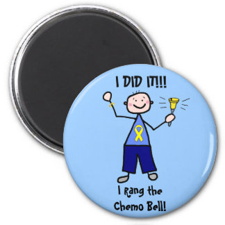 Chemo Bell - Yellow Ribbon Testicular Cancer 6 Cm Round Magnet