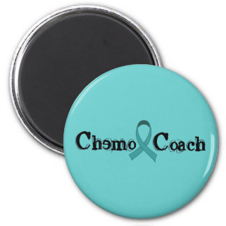 Chemo Coach - Cervical Cancer 6 Cm Round Magnet