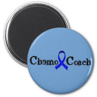 Chemo Coach - Colon Cancer Blue Ribbon 6 Cm Round Magnet