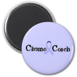 Chemo Coach - General Cancer Lavender Ribbon 6 Cm Round Magnet