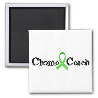 Chemo Coach - Green Ribbon Square Magnet