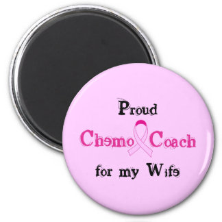 Chemo Coach - Pink Ribbon Breast Cancer 6 Cm Round Magnet