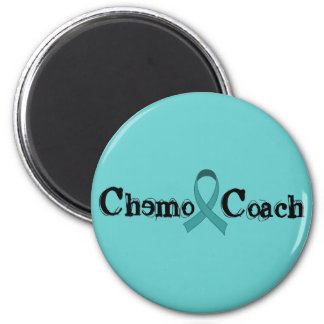 Chemo Coach - Teal Ribbon 6 Cm Round Magnet