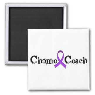 Chemo Coach - Violet Ribbon Square Magnet