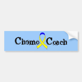 Chemo Coach - Yellow Ribbon Bumper Sticker