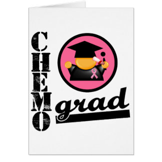 Chemo Grad Breast Cancer Ribbon Greeting Cards