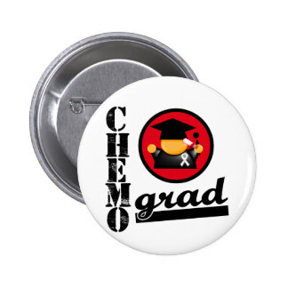 Chemo Grad Lung Cancer Ribbon Buttons