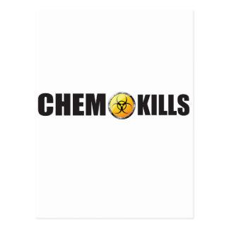 Chemo kills campaign postcard