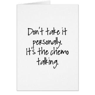 Chemo Talking Card
