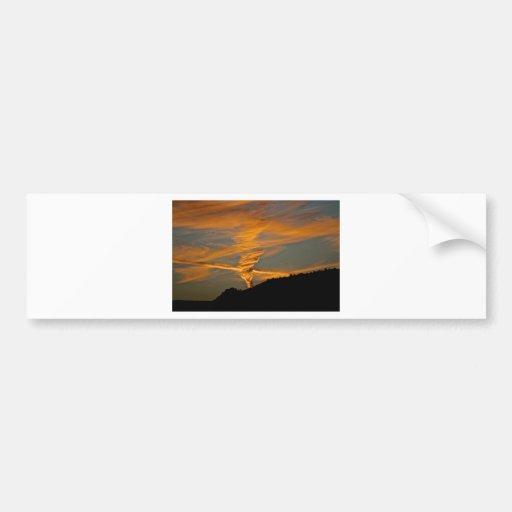Chemtrail Sunset Bumper Sticker