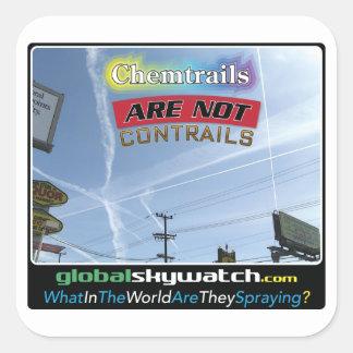 Chemtrails Square Sticker