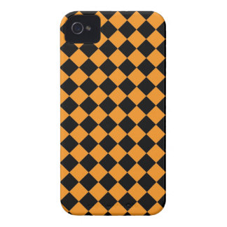 ChequerBoard (Orange/Black) Blackberry Case