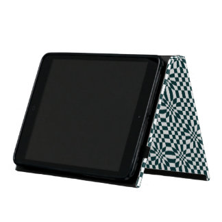Chequered black and white case for iPad mini