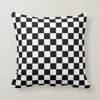 Chequered: Black and White Cushion