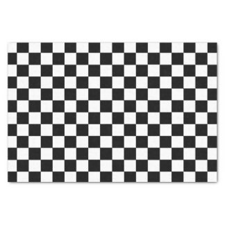 Chequered Black and White Tissue Paper