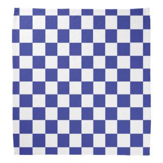 Chequered Blue and White Bandana