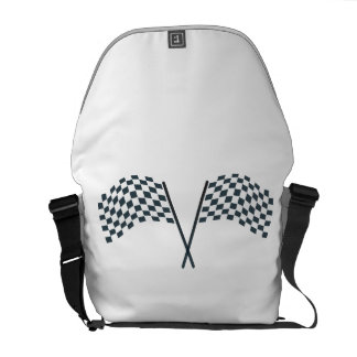 Chequered flag bags messenger bags