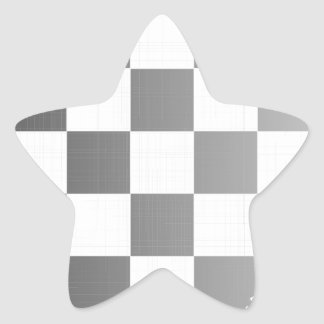 Chequered Flag Grunge Star Sticker
