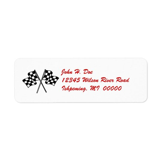 Chequered Flag Return LABEL ~ EZ2 Change Info Return Address Label
