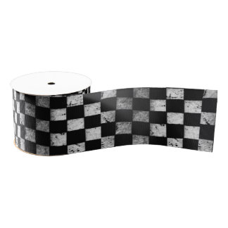 Chequered Flag Ribbon Grosgrain Ribbon