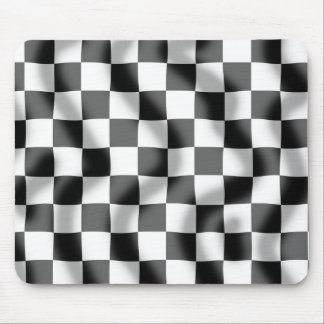 Chequered Flag Slight Ripple Mouse Mat