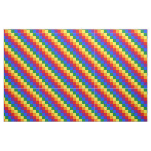 Chequered  LGBT pattern Fabric