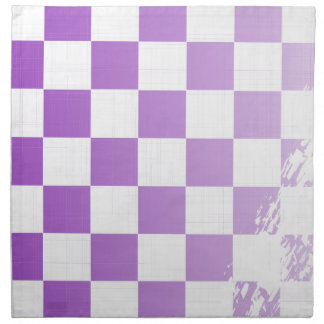 Chequered Purple Grunge Napkin