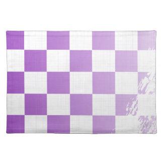 Chequered Purple Grunge Placemat