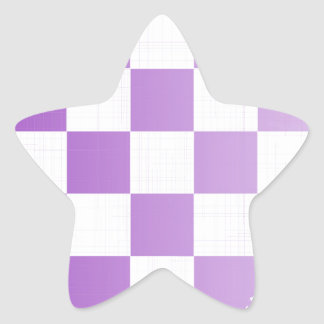 Chequered Purple Grunge Star Sticker