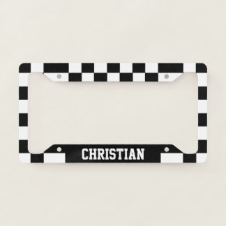 Chequered Racing Flag Themed Personalised