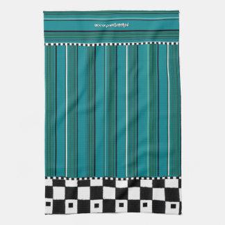 Chequered Stripe Tea Towel