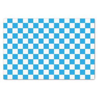 Chequered Turquoise and White Tissue Paper