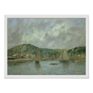 Cherbourg, 1883 (oil on canvas) poster