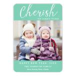 Cherish New Year Photo Card / Custom Colour 13 Cm X 18 Cm Invitation Card