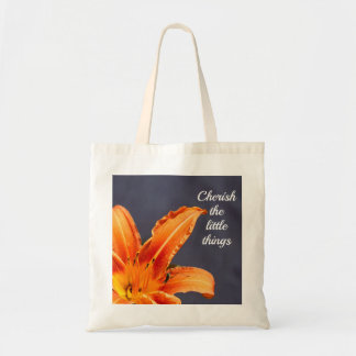 Cherish the Little Things Day Lily Budget Tote Bag