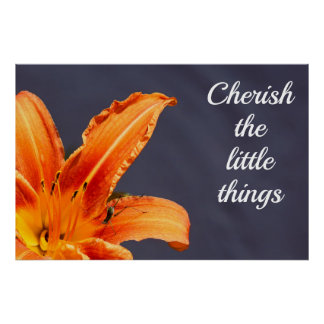 Cherish the Little Things Day Lily Poster