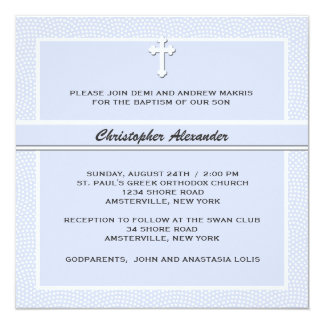 Cherished Blue - Religious Invitation