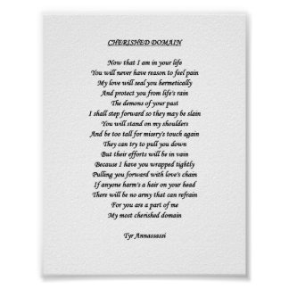 CHERISHED DOMAIN Poster