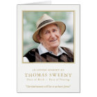 Cherished Memories Sympathy Funeral Thank You Card