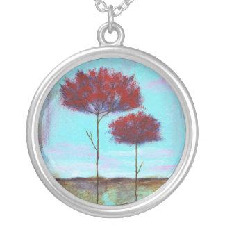 Cherished Round Pendant Necklace Painting